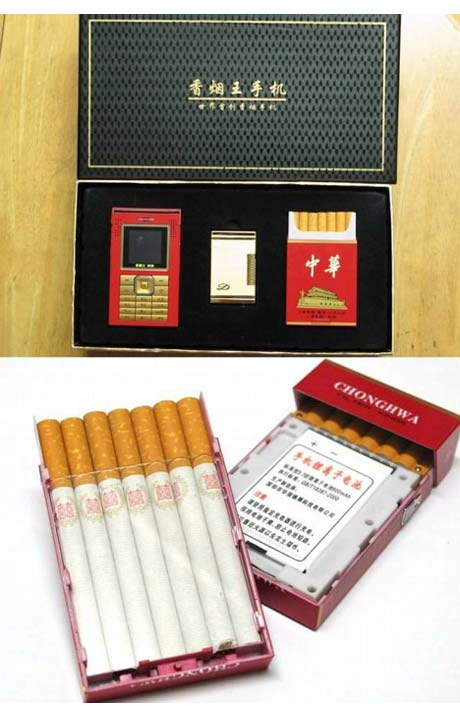 Mobile phone cigarette packet