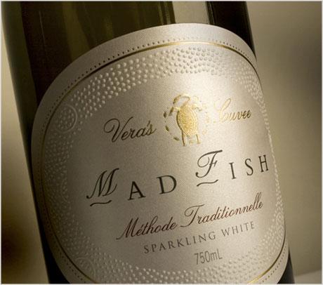 MadFish wine label design