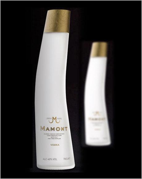 Mamont vodka bottle design
