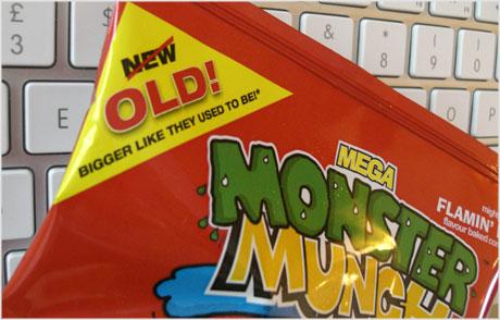 old Monster Munch packaging