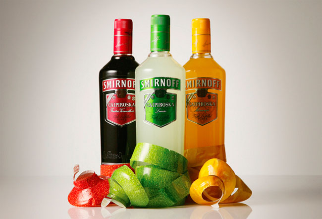 Smirnoff Caipiroska packaging design