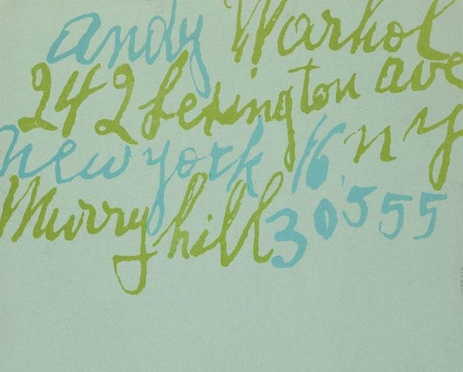 Andy Warhol letterhead