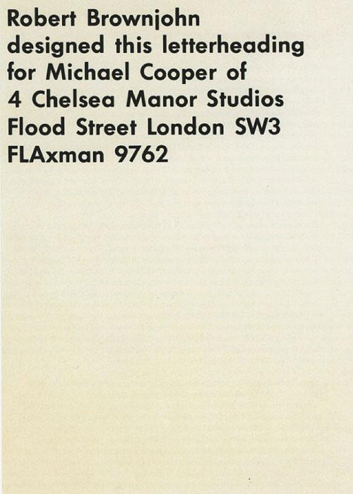 Michael Cooper letterhead
