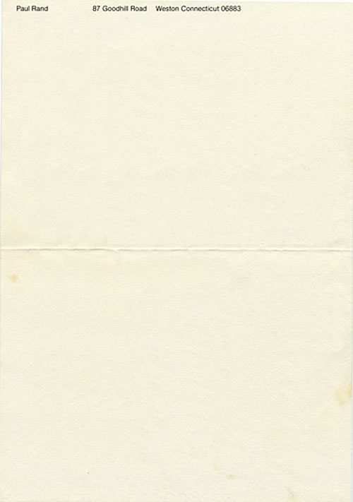Paul Rand letterhead