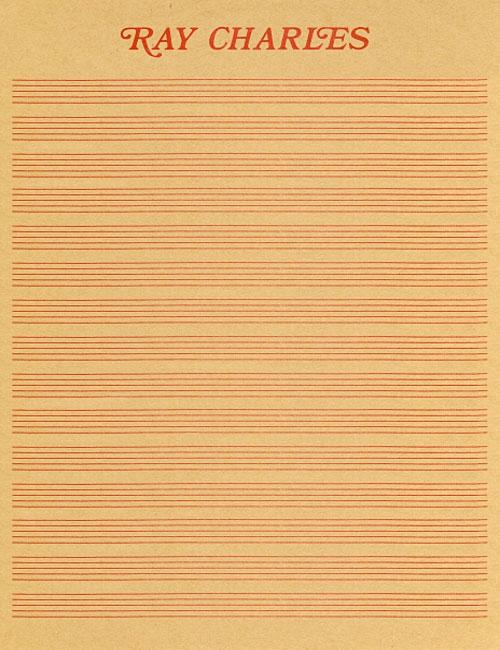 Ray Charles letterhead