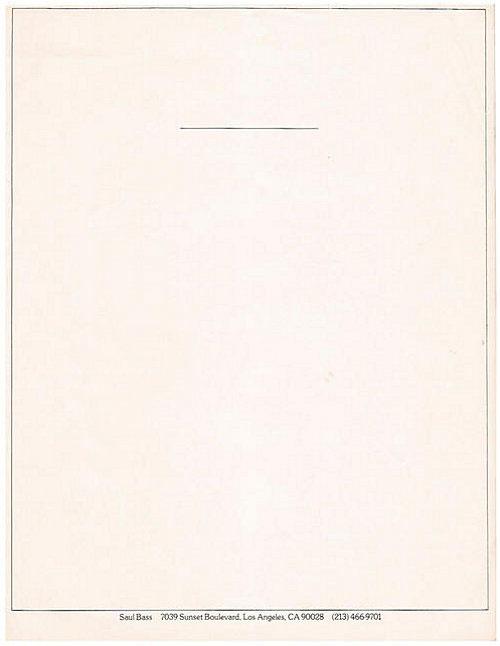 Saul Bass letterhead