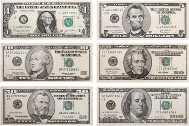 Us Dollar Bill Denominations