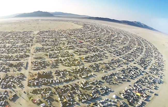 Burning Man 2014 from above