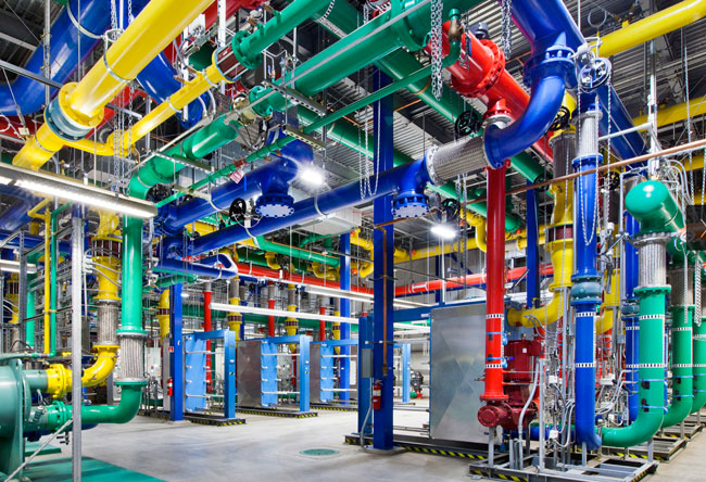 Google data center pipes