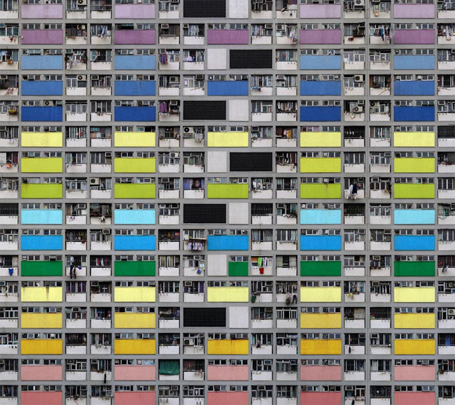 Hong Kong tower block, Michael Wolf