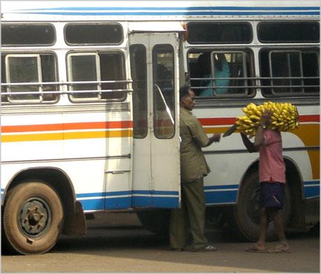 India bus station