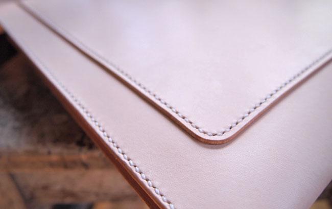 Leather portfolio detail