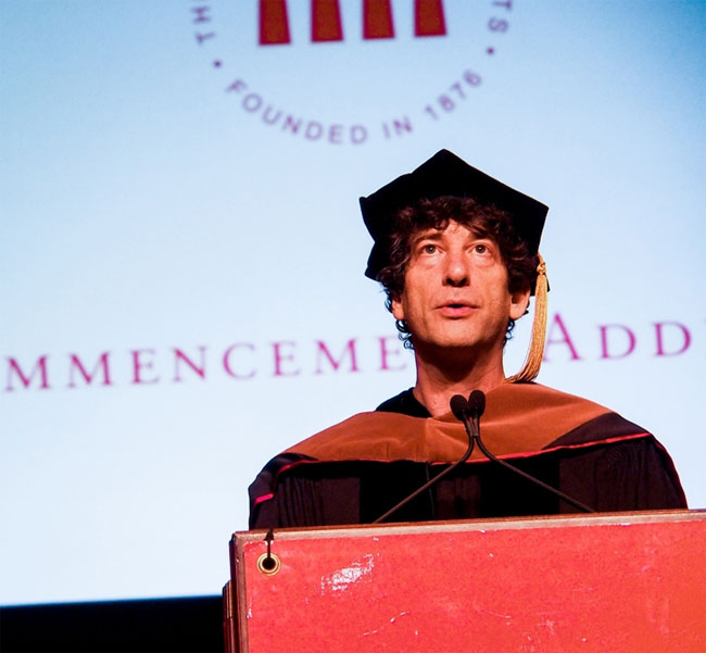 Neil Gaiman at the University of the Arts