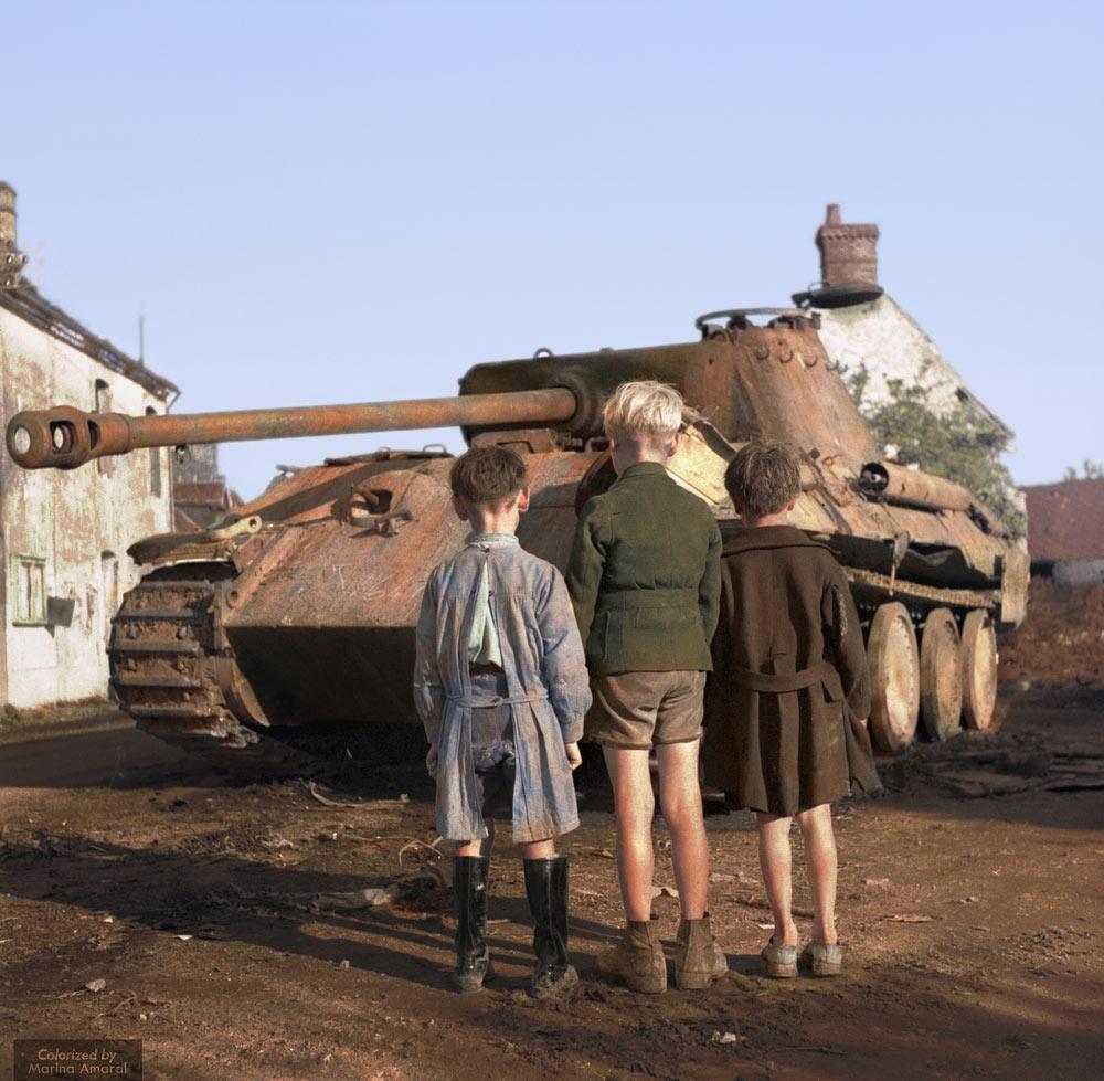 German panther tank, Normandy, 1944