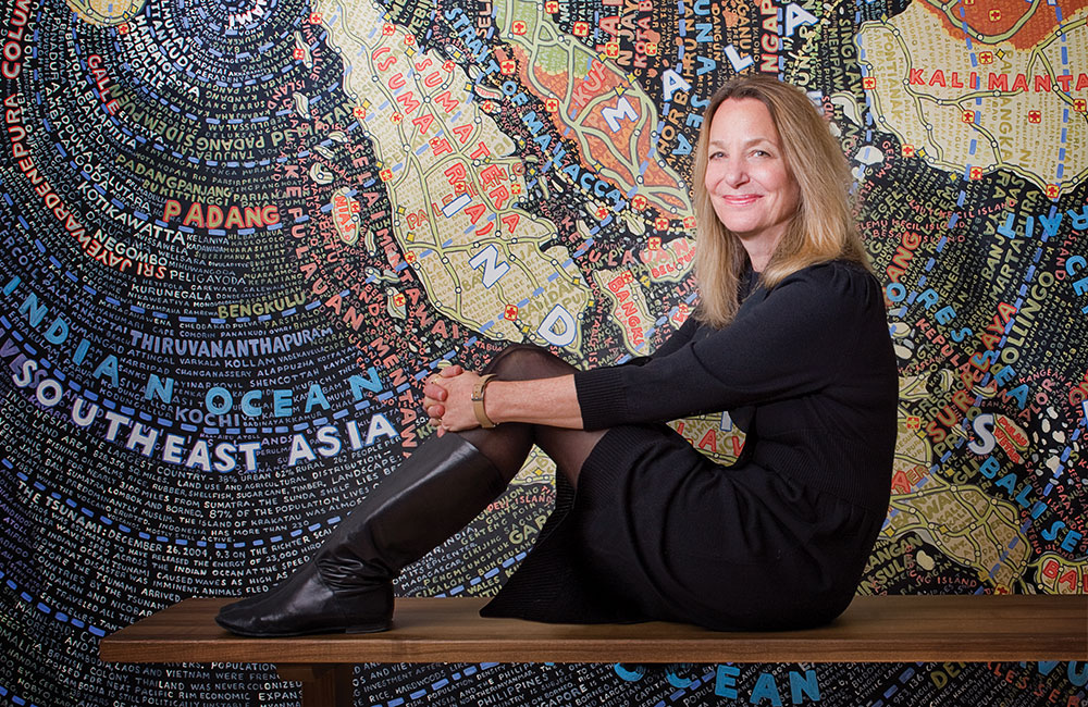 Paula Scher world map