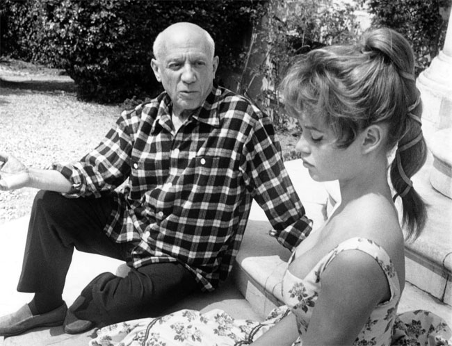 Picasso and Brigitte Bardot