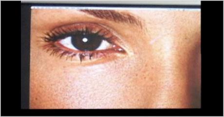 retouched eyes