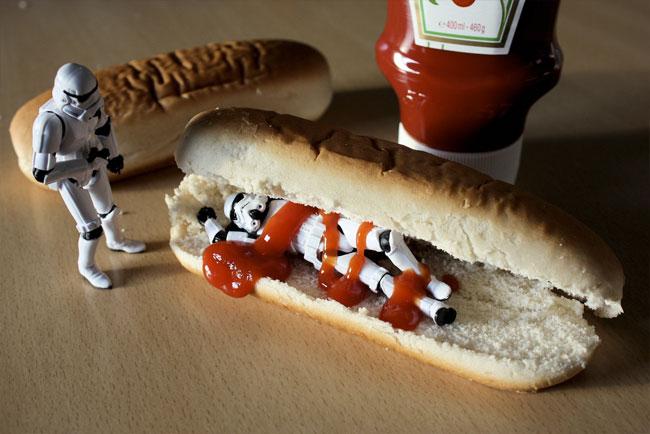 Stormtrooper hotdog