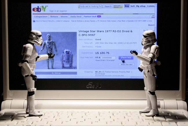 Stormtroopers place your bid