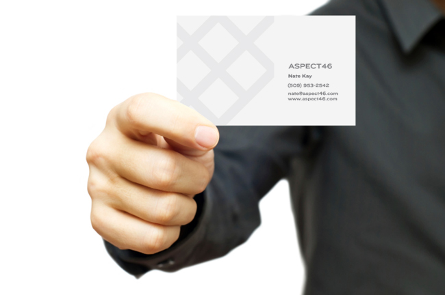 Aspect 46 business card design