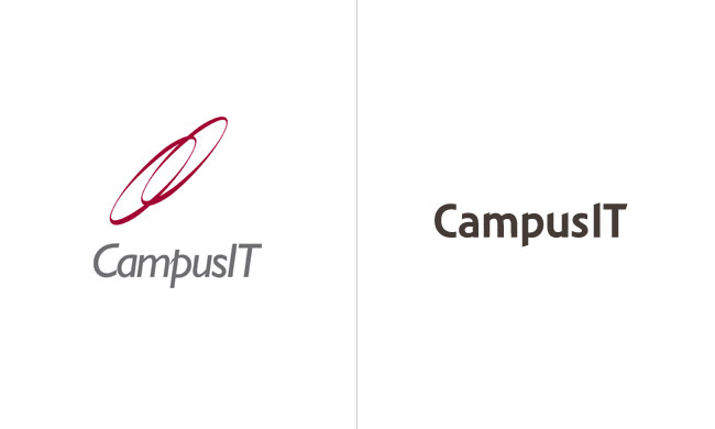 CampusIT logo before and after
