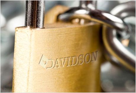 Davidson Locksmith padlock