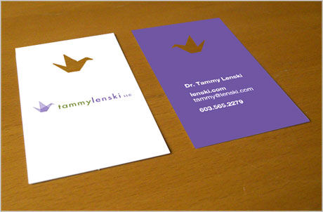 Tammy Lenski business card design