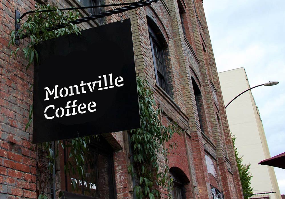 Montville Coffee signage