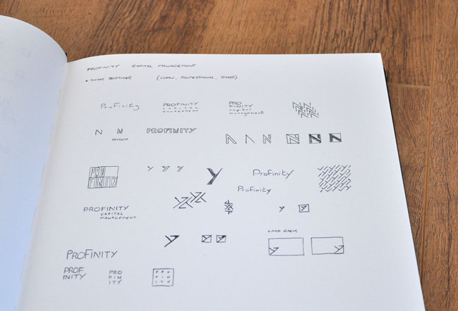 Profinity Capital Management logo sketches