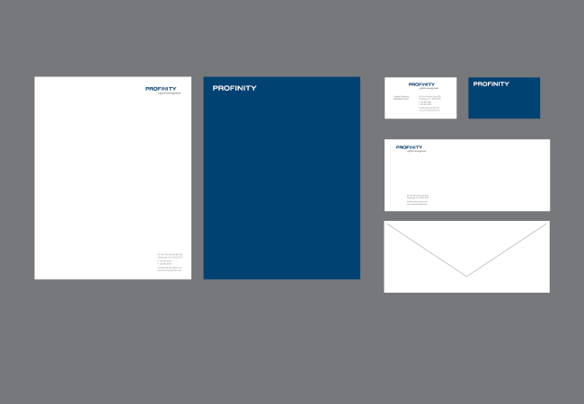 Profinity Capital Management stationery design