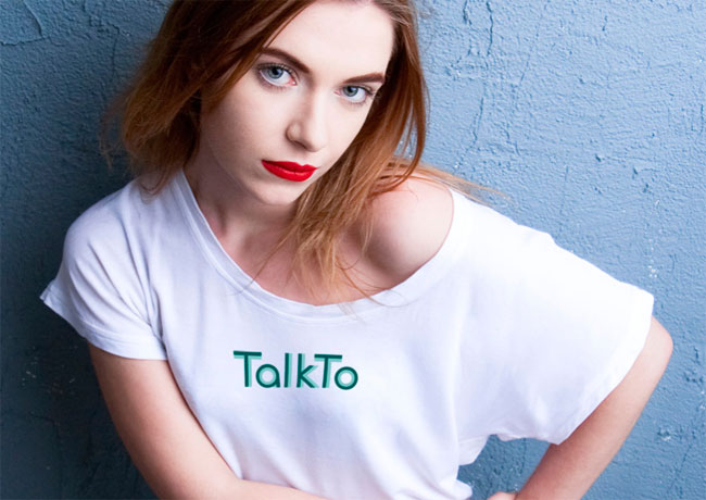 TalkTo logo on tshirt