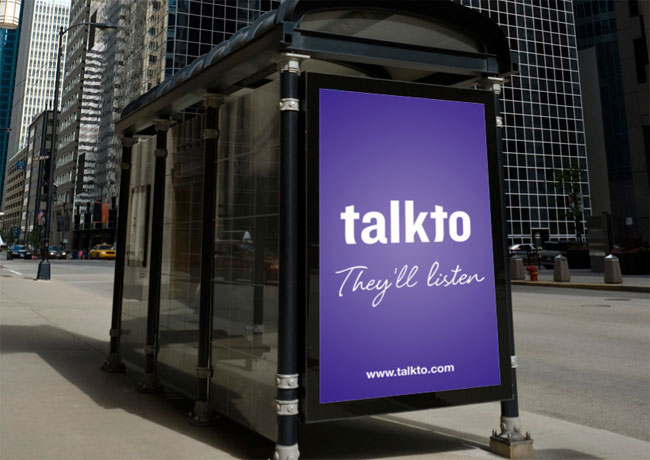 Talkto logo on signage
