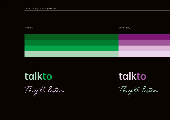 TalkTo logo colours