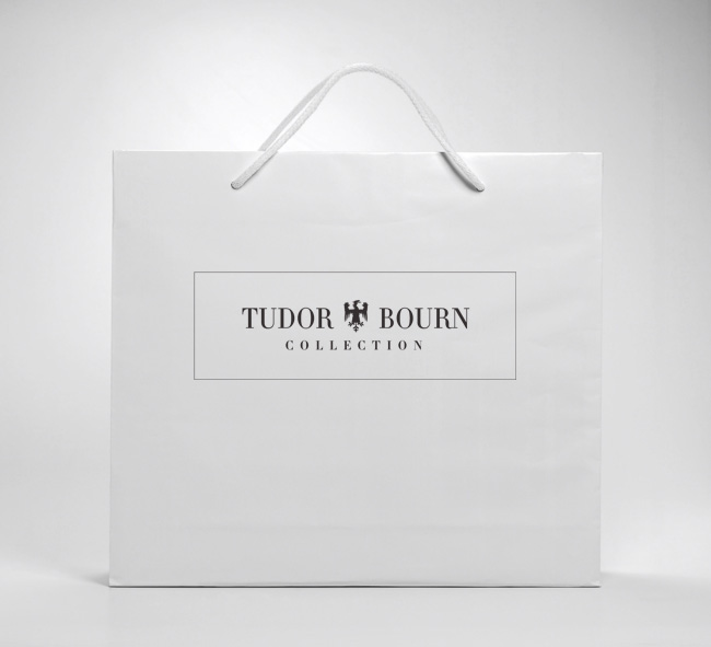 Tudor Bourn carrier bag