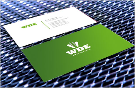WDE business card design