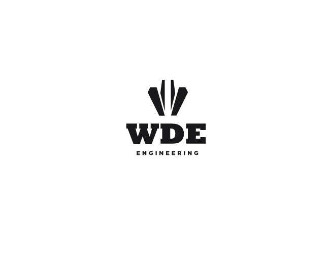 WDE logo design