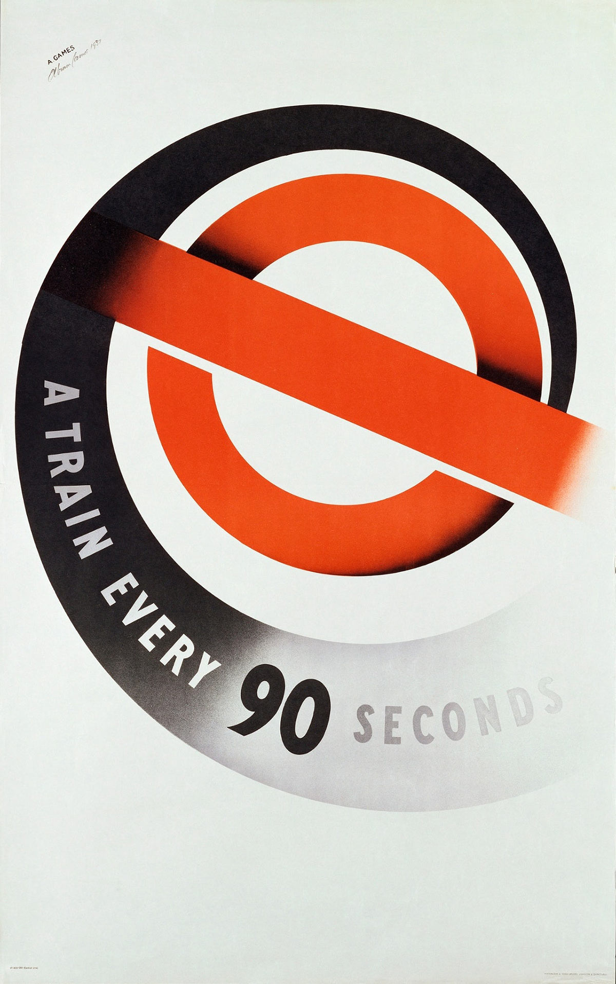 Abram Games London Underground poster