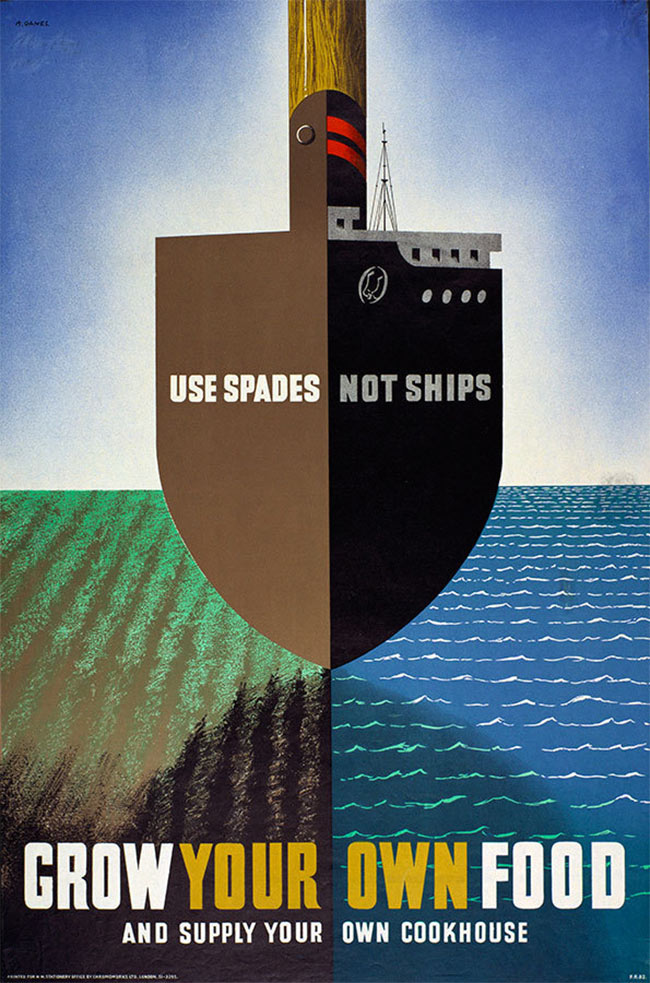 Abram Games Use Spades Not Ships poster