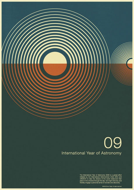 astronomy poster design. Simon Page is a self-taught graphic designer from