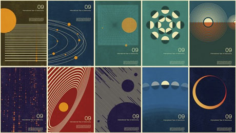 Year of Astronomy poster design — David Airey