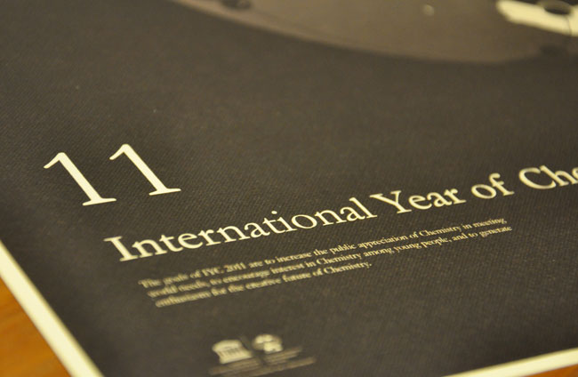 International Year of Chemistry poster design