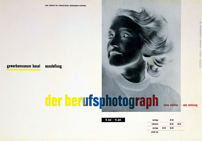 Exhibition poster for Der Berufsphotograph  The Professional    Jan Tschichold Posters