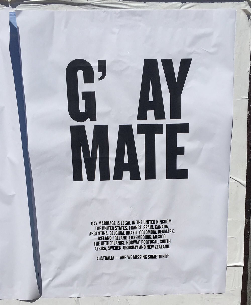 Gay marriage Australia poster