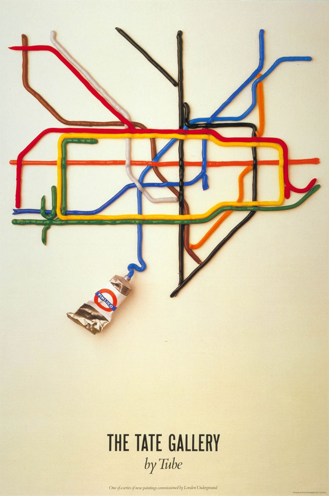 The Tate Gallery by Tube poster