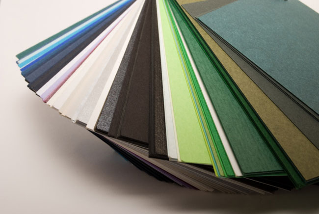 coloured paper stock