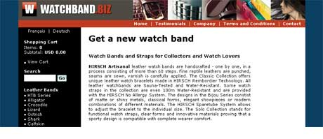Watchband homepage