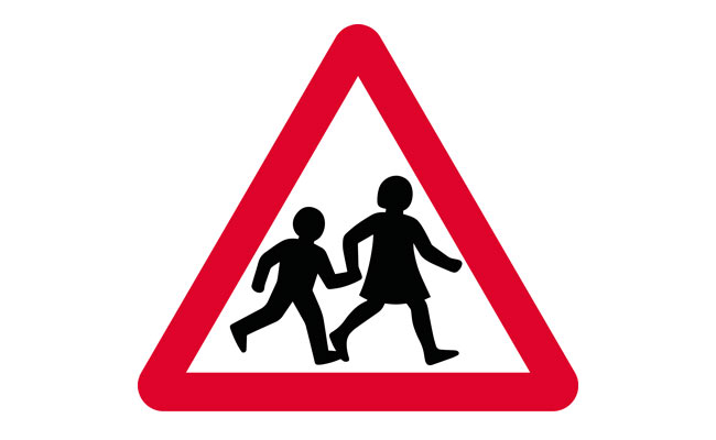 Children road sign UK