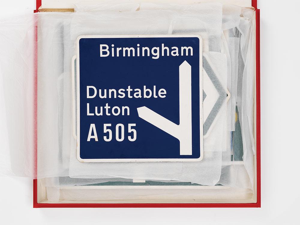A505 road sign