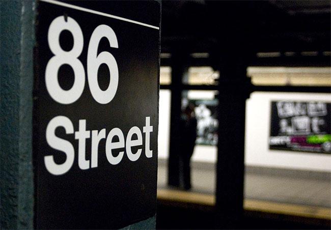 Subway signage Helvetica