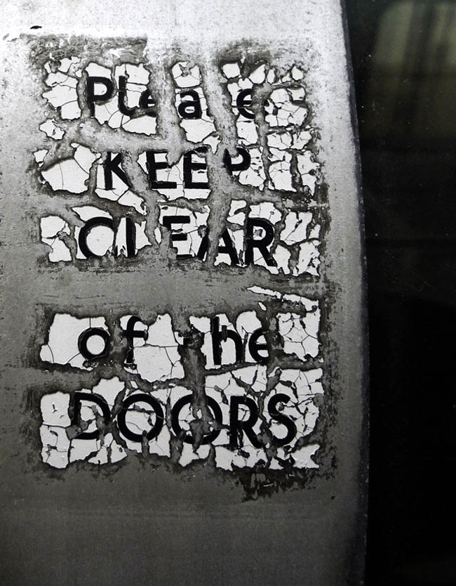 Please keep clear of the doors